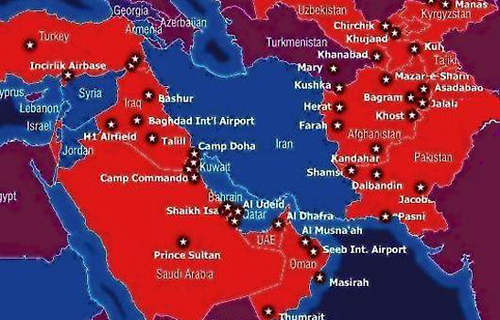 IRIA Report US Strategic Interests In The MiddleEast - Mid east usa map